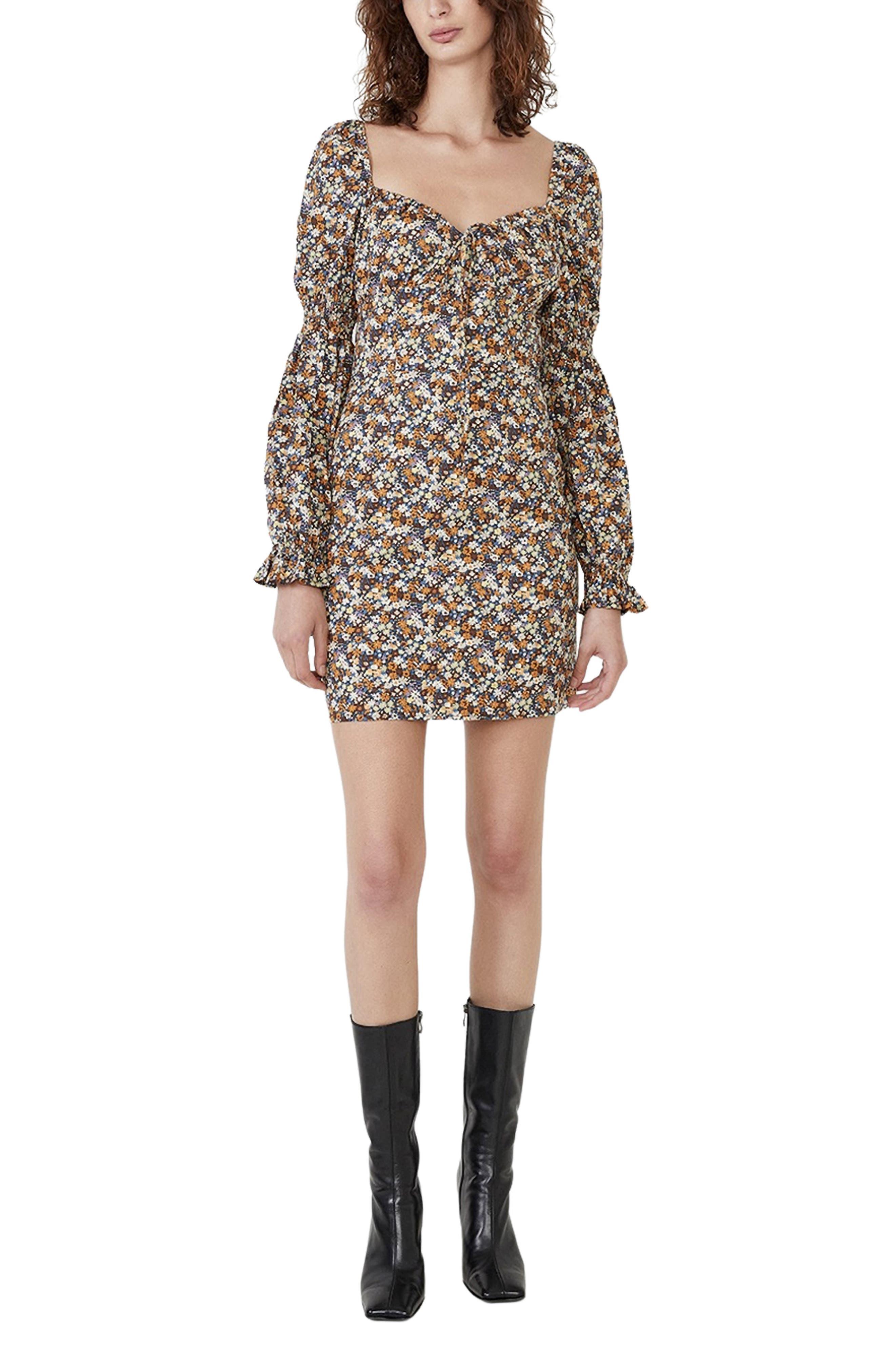 Clarissa Floral Print Long Sleeve Minidress