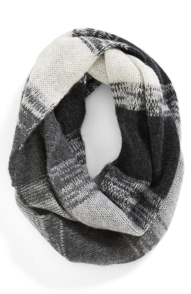 HALOGEN<SUP>®</SUP> Stripe Cashmere Infinity Scarf, Main, color, 020