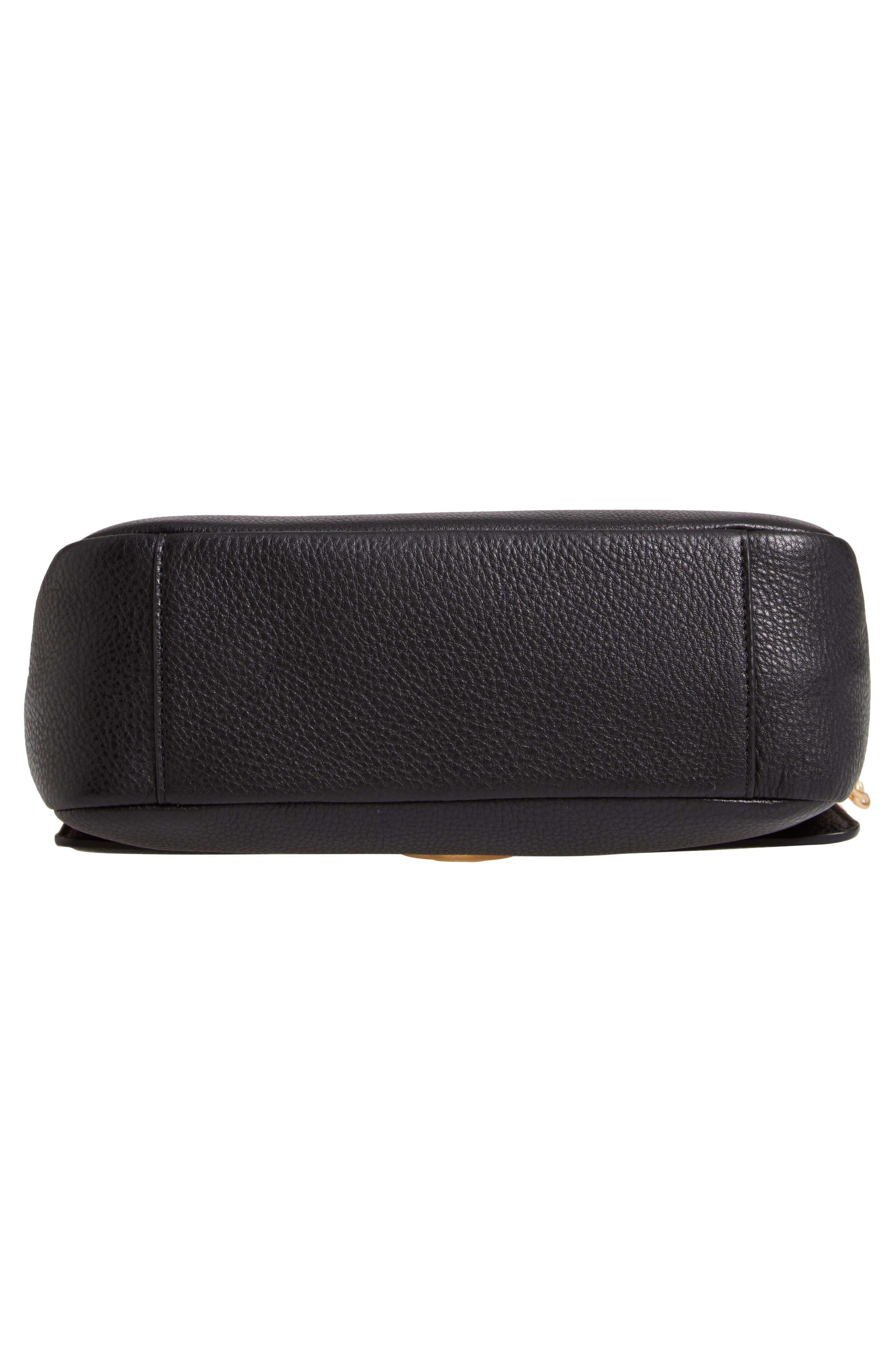 ,                             Chelsea Leather Shoulder Bag,                             Alternate thumbnail 8, color,                             BLACK