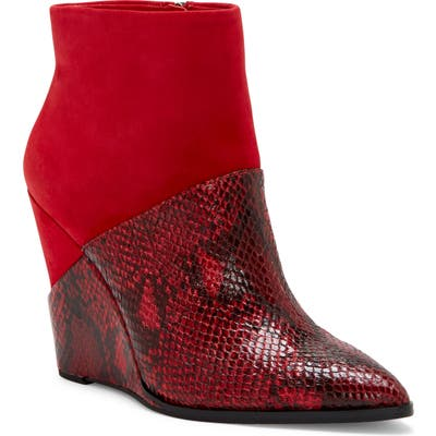 Jessica Simpson Huntera Wedge Bootie- Red