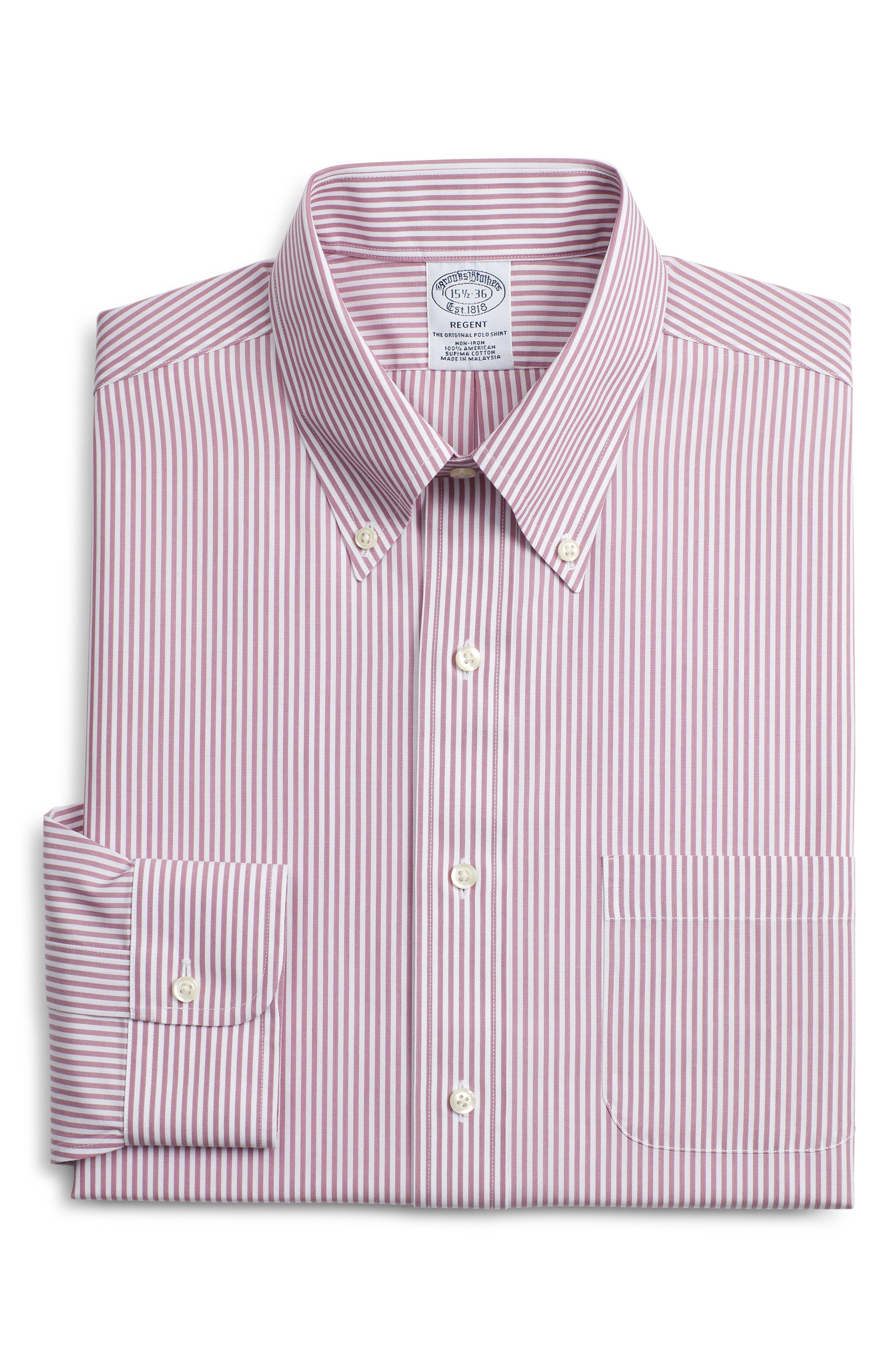 Brooks Brothers Regent Regular Fit Stripe Dress Shirt (3 For $207)
