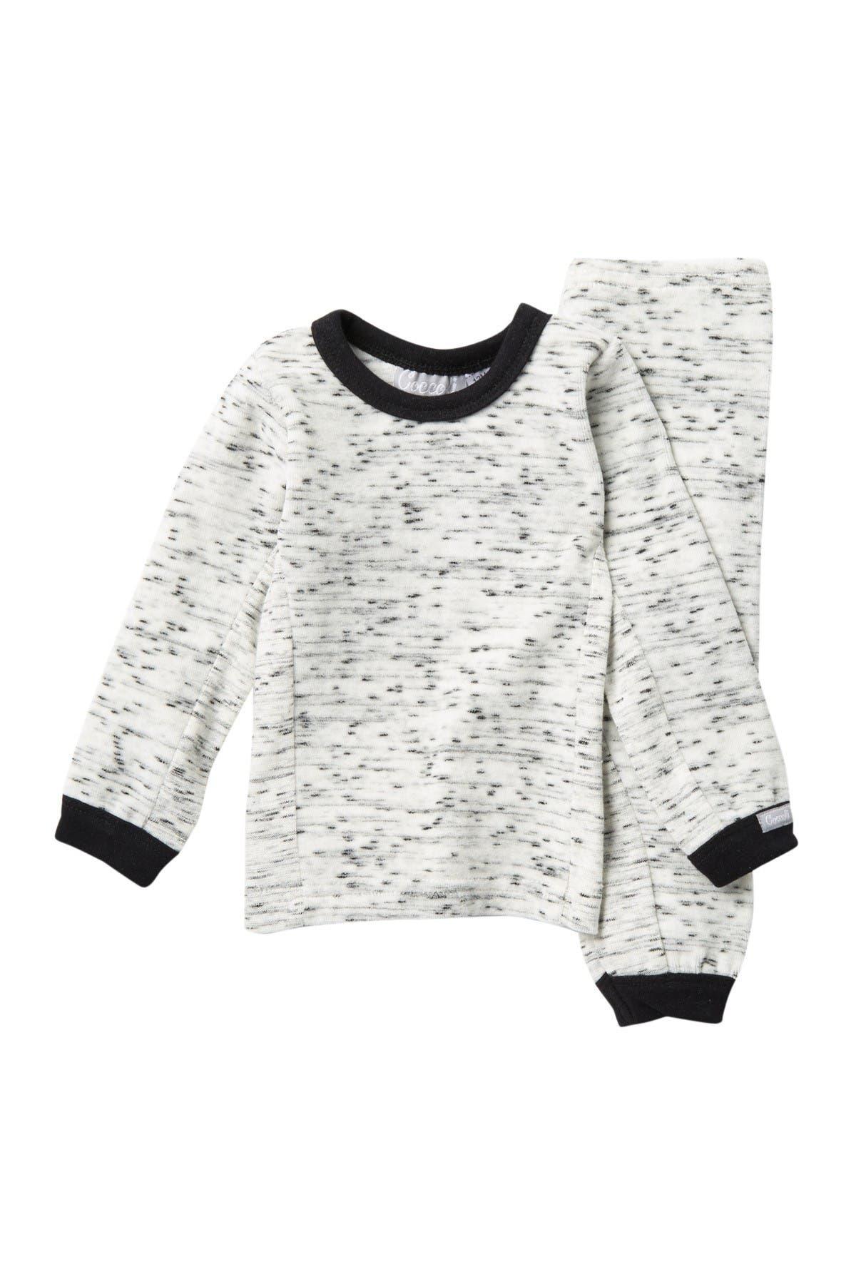 Image of Coccoli Cozy Velour Long Sleeve Top & Pants Pajama Set