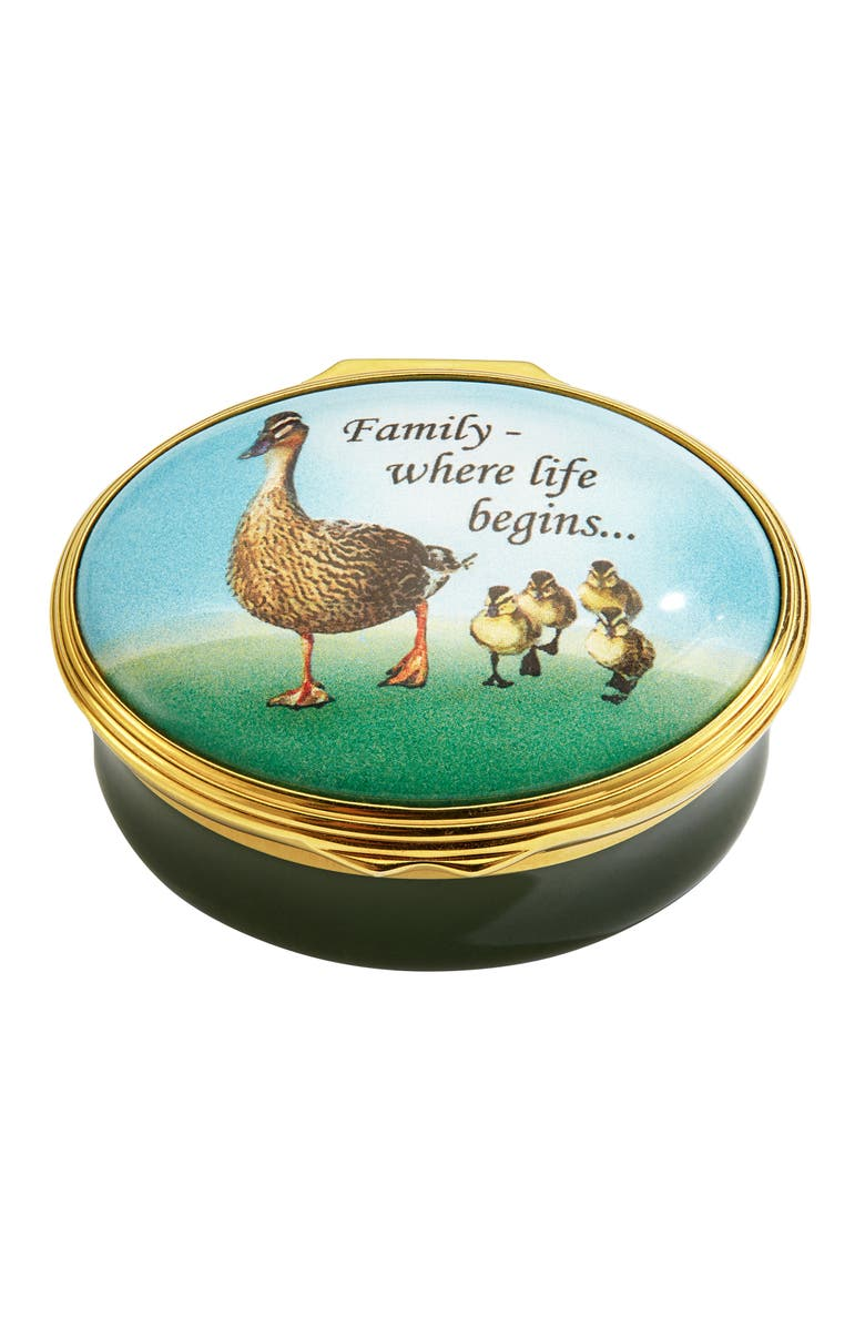 Halcyon Days Family Where Life Begins Enamel Box