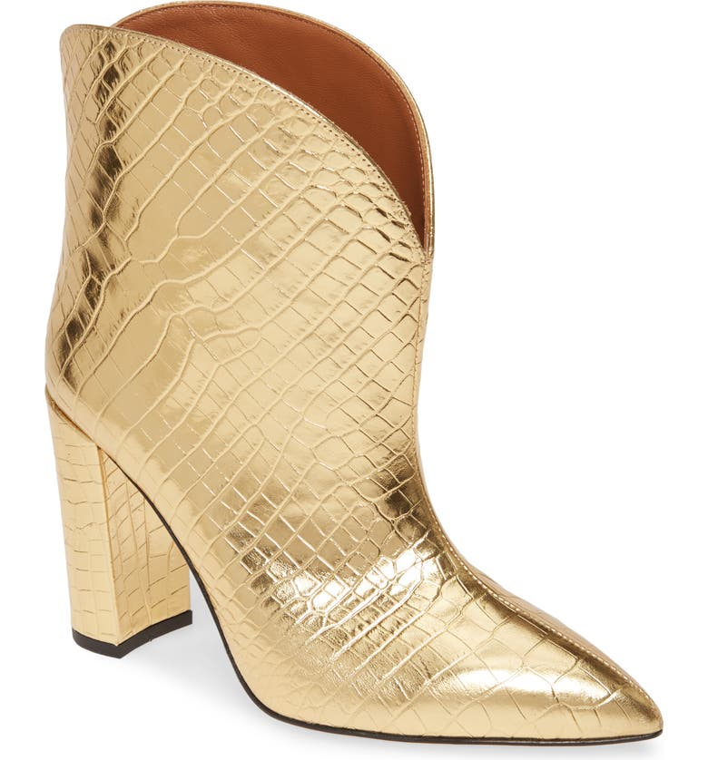 PARIS TEXAS Ankle Bootie, Main, color, GOLD METALLIC