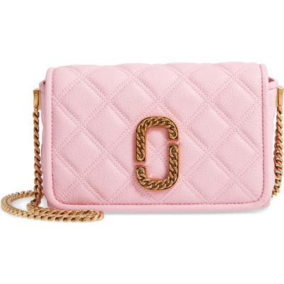 The Marc Jacobs Quilted Leather Flap Crossbody Bag - Pink