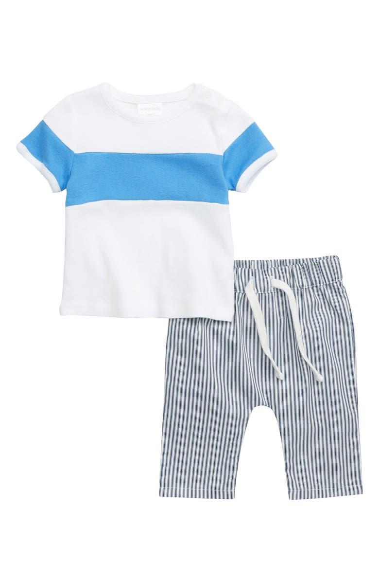 NORDSTROM BABY Stripe T-Shirt & Pants Set, Main, color, 100
