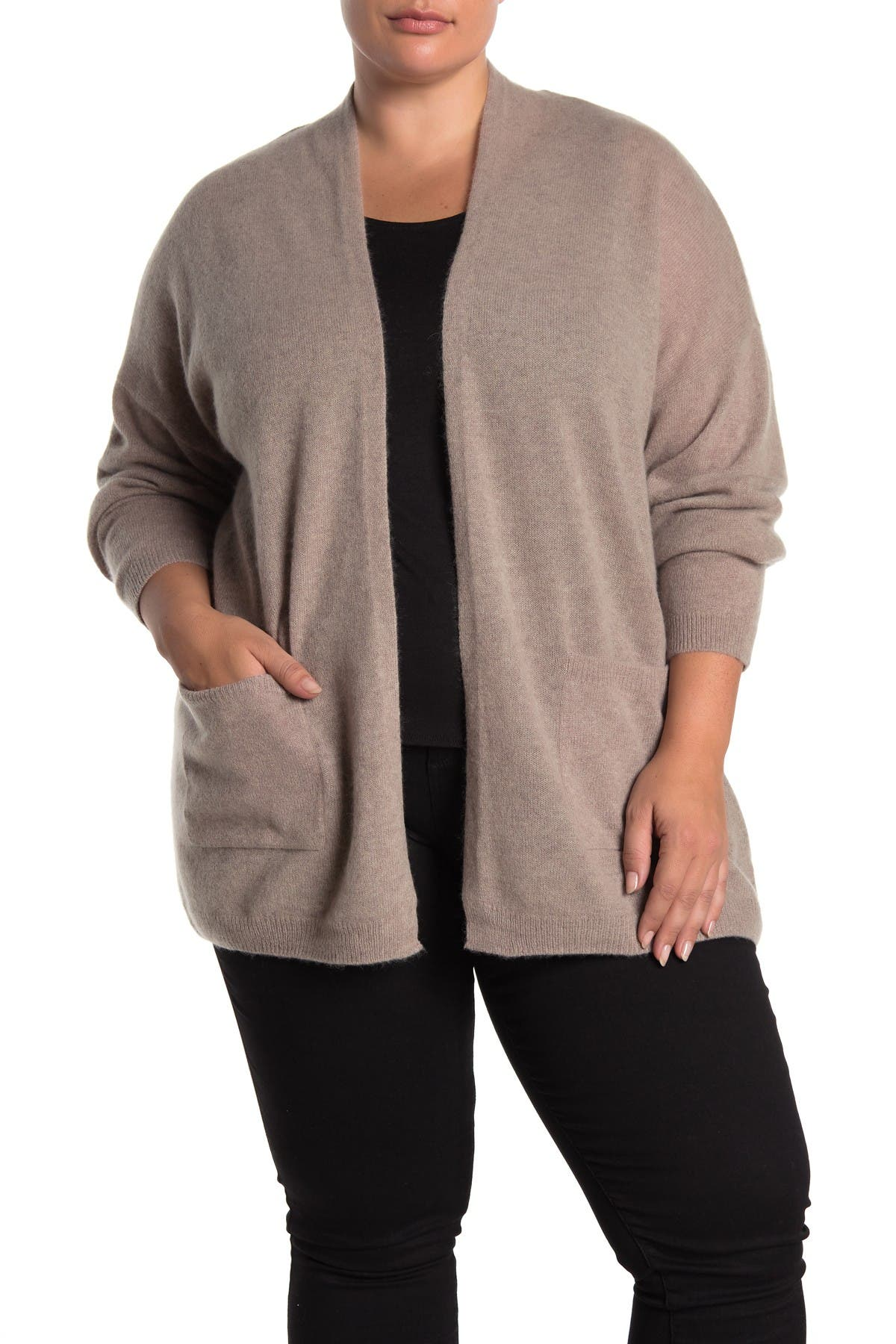 Image of M Magaschoni Solid Pocketed Cashmere Cardigan