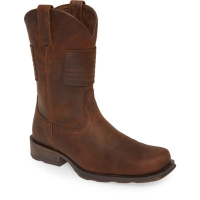 Ariat Rambler Patriot Cowboy Boot- Brown