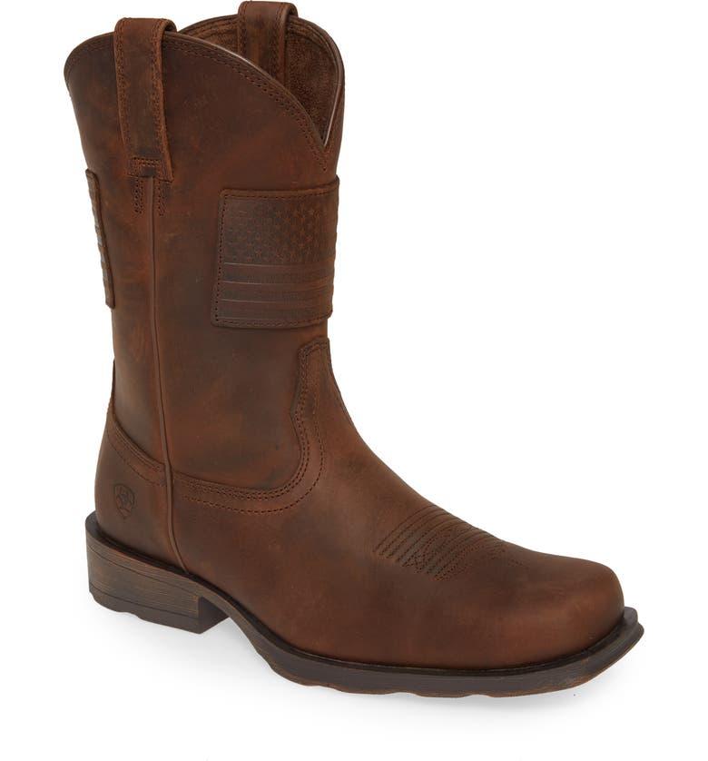 ARIAT Rambler Patriot Cowboy Boot, Main, color, 200