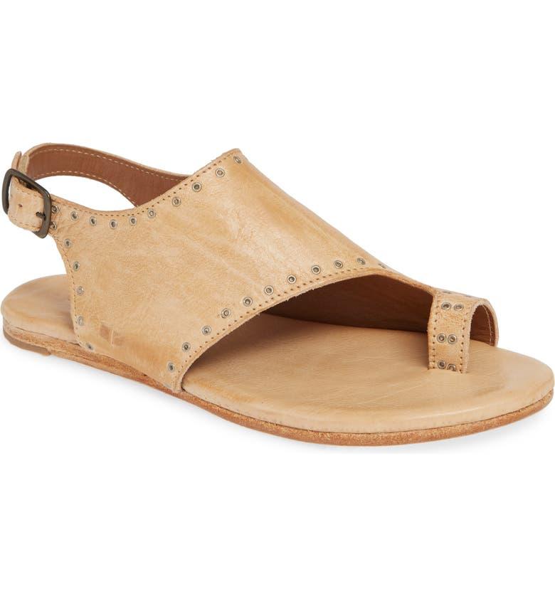 BED STU Misha Grommet Toe Loop Sandal, Main, color, BONE RUSTIC