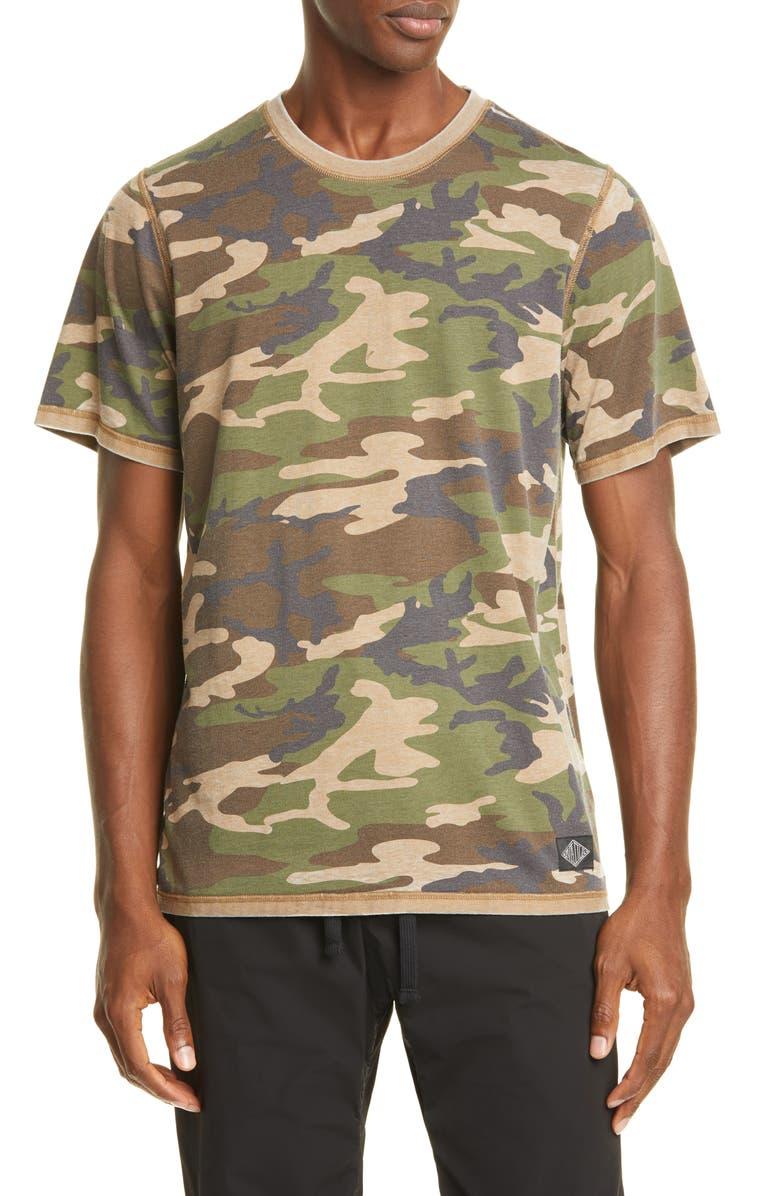 OVADIA & SONS Reverse Burnout Camo T-Shirt, Main, color, CAMO