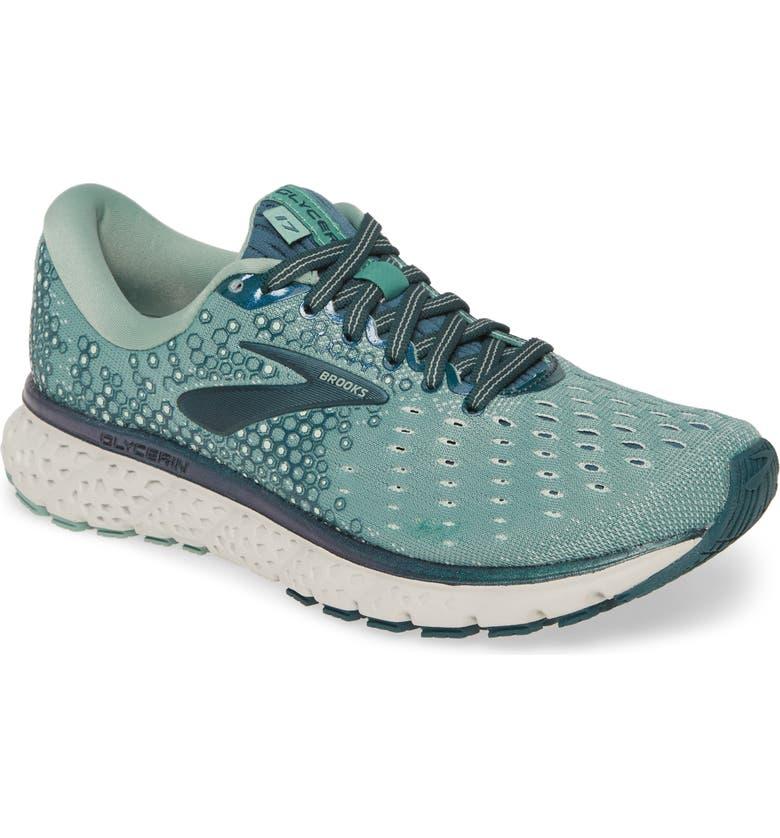 BROOKS Glycerin 17 Running Shoe, Main, color, FELDSPAR/ AQUA FOAM/ GREY