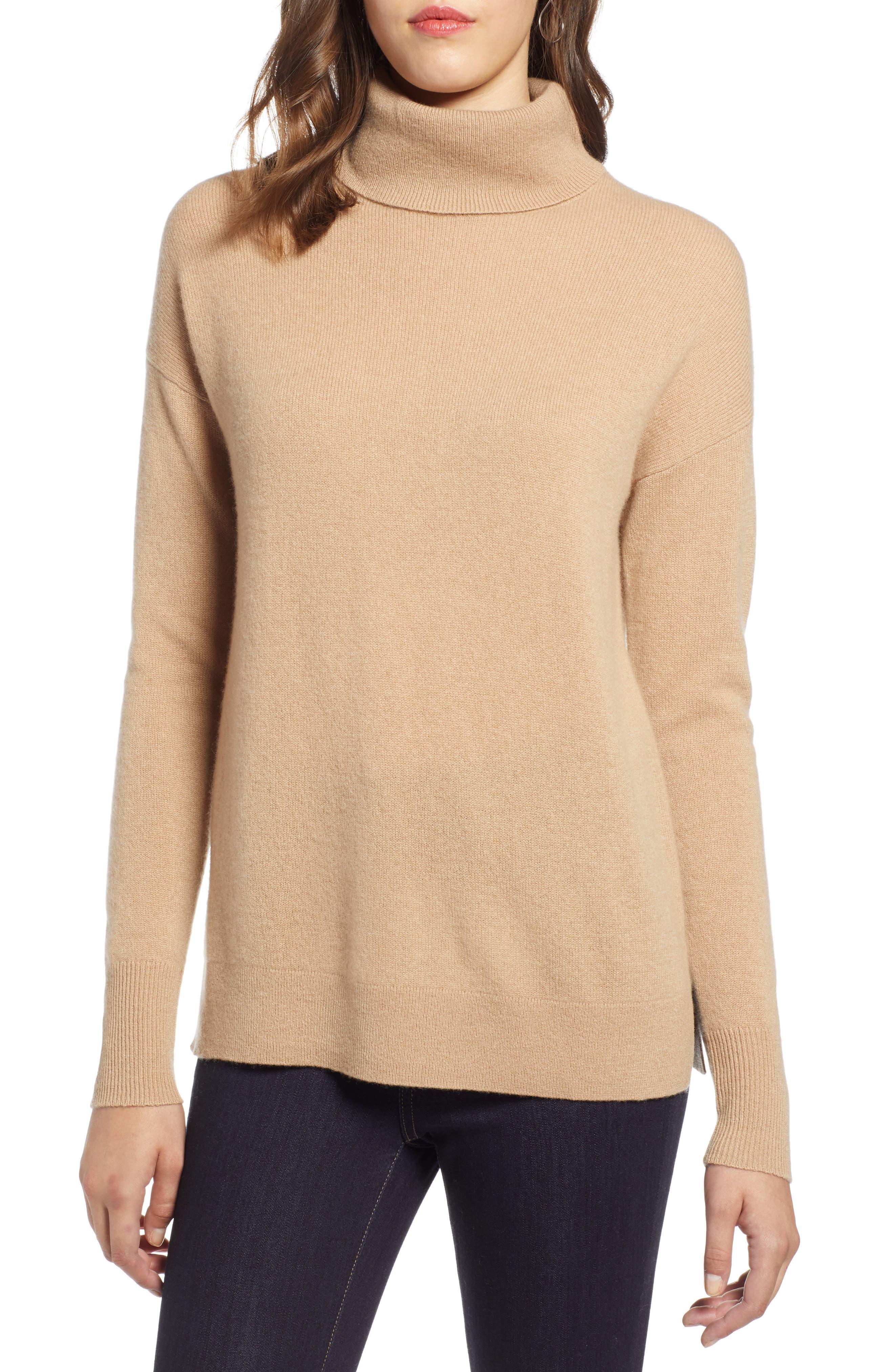 ,                             Cashmere Turtleneck Sweater,                             Main thumbnail 19, color,                             230