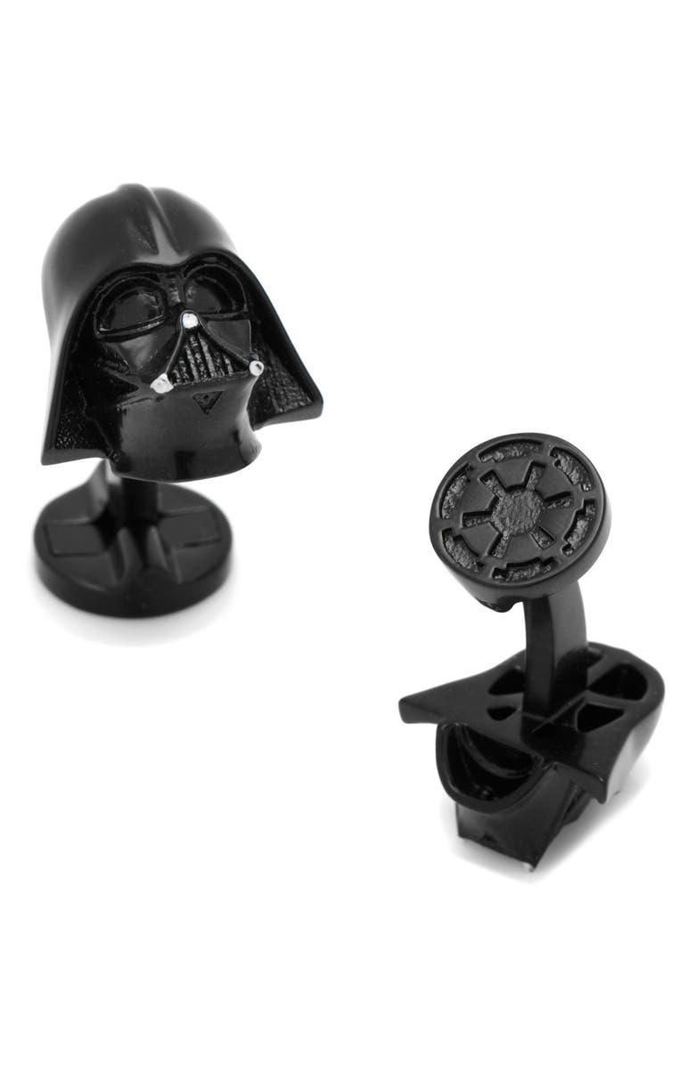 CUFFLINKS, INC. Star Wars Darth Vader Cuff Links, Main, color, BLACK