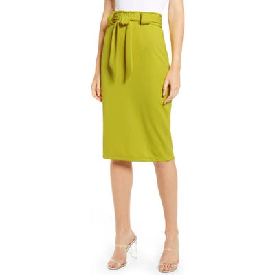 Sentimental Ny Paperbag Waist Pencil Skirt, Yellow