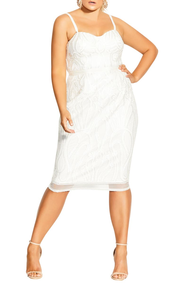 CITY CHIC Antonia Cocktail Dress, Main, color, 900