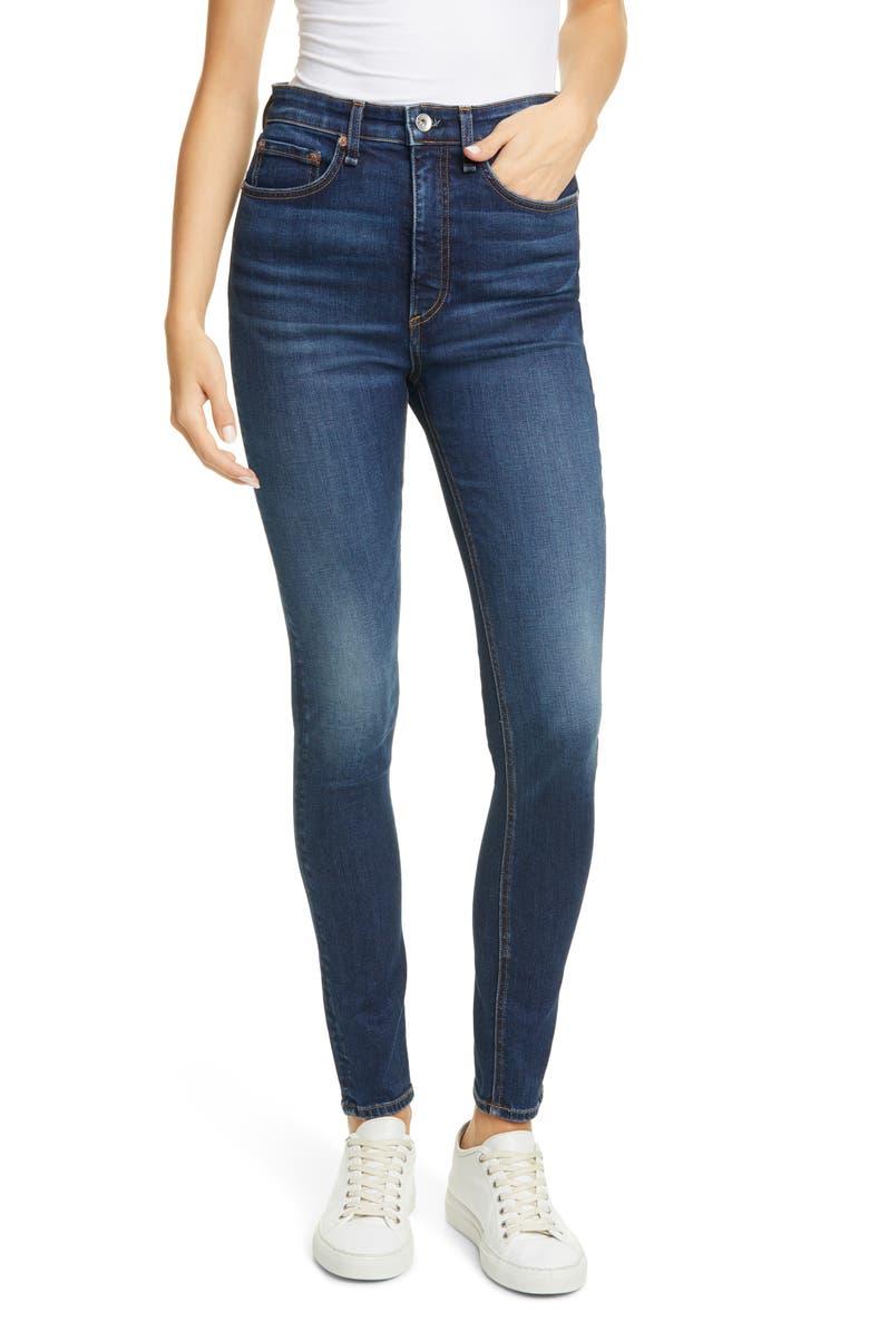 RAG & BONE Nina High Waist Cigarette Jeans, Main, color, 401