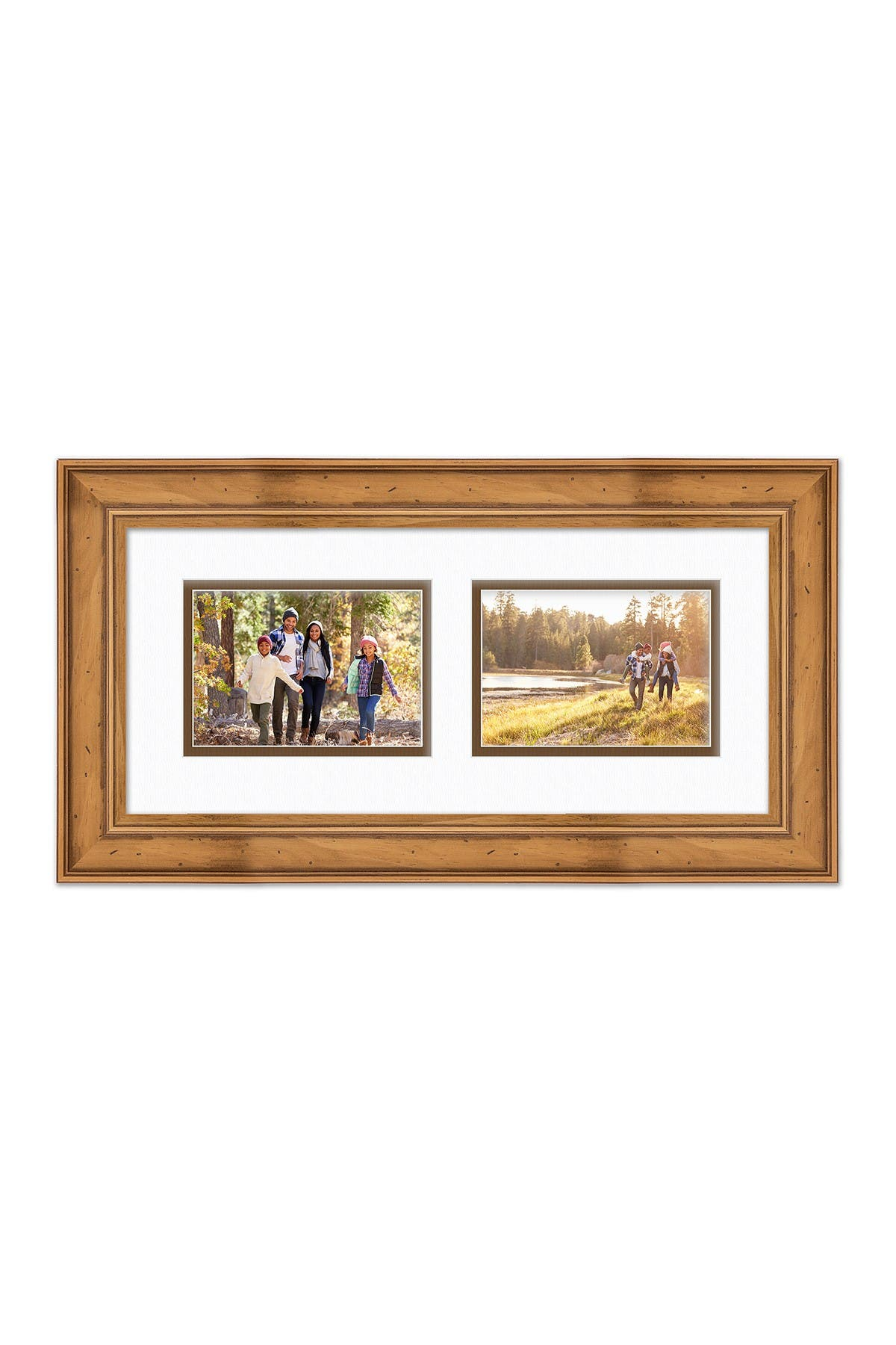 COURTSIDE MARKET Industrial Rustic Collection Natural 8x18 2-5x7 Openings Collage Frame at Nordstrom Rack