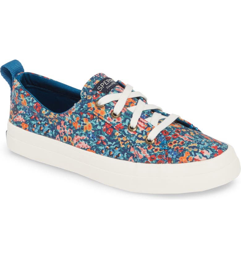 SPERRY Crest Vibe Liberty Sneaker, Main, color, BLUE CANVAS