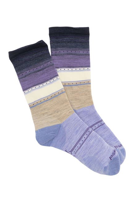 Image of SmartWool Sulawesi Stripe Wool Blend Crew Socks
