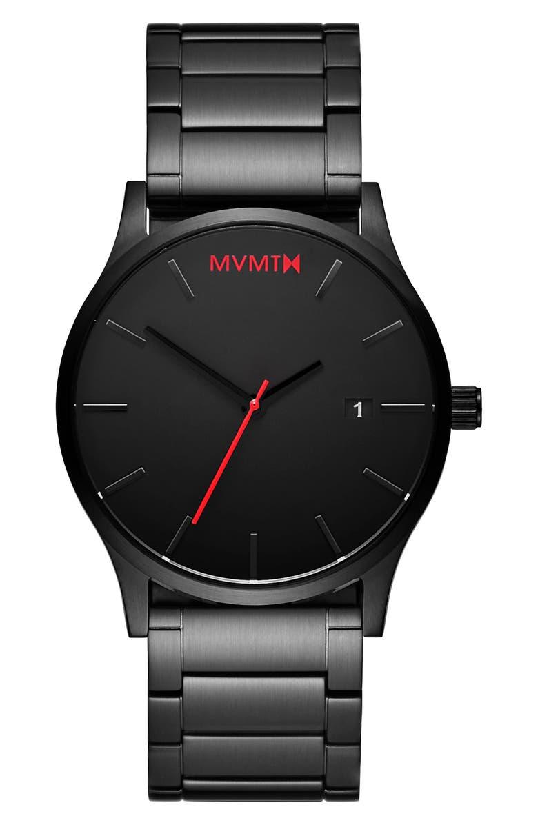 MVMT Classic Bracelet Watch, 45mm, Main, color, BLACK