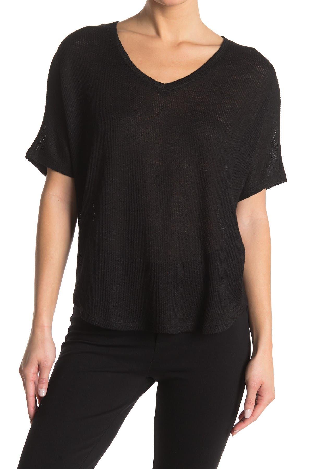 Image of philosophy V-Neck Dolman Sleeve Knit Shirt