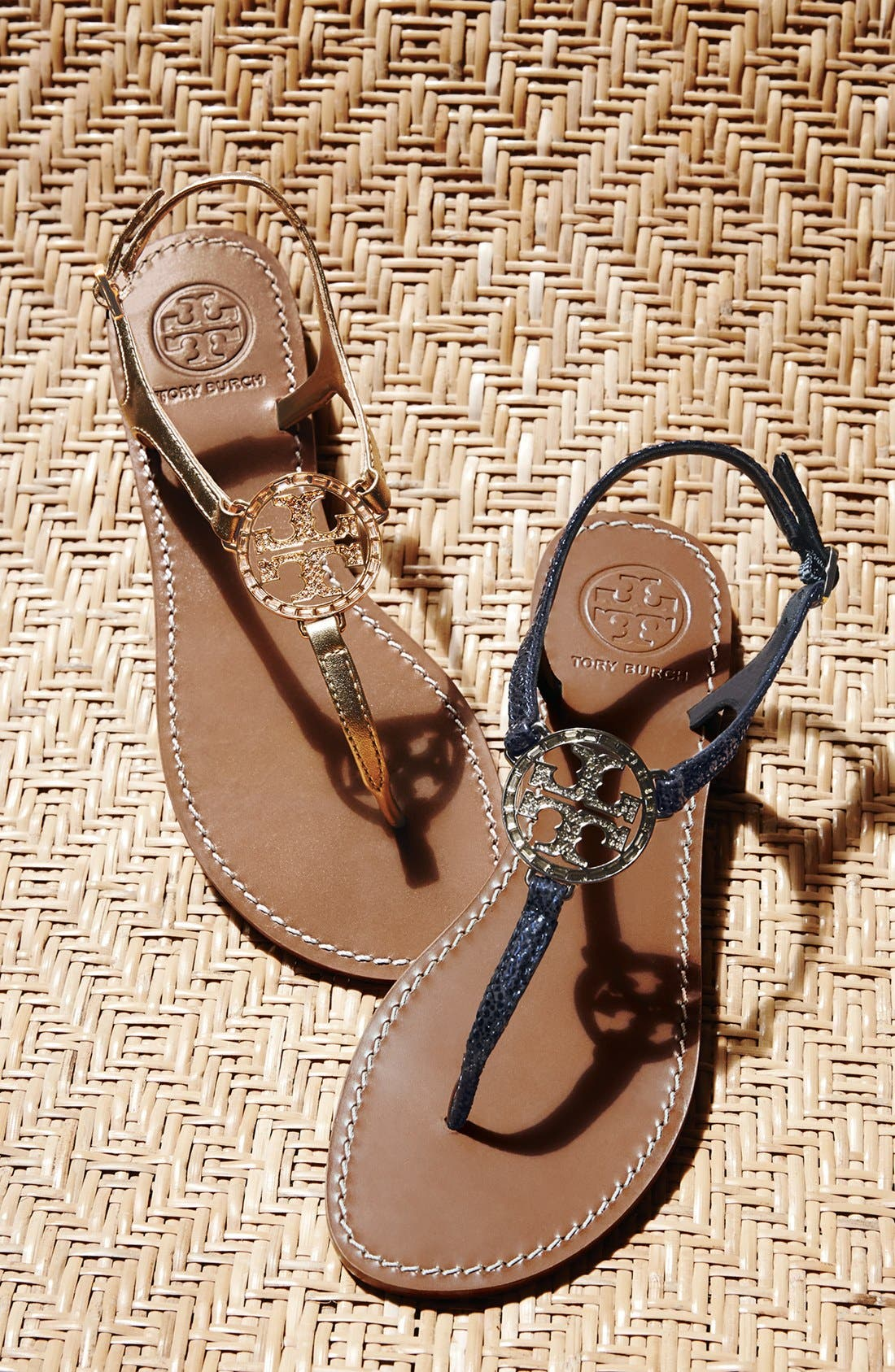,                             'Violet' Metallic Leather Thong Sandal,                             Main thumbnail 1, color,                             033