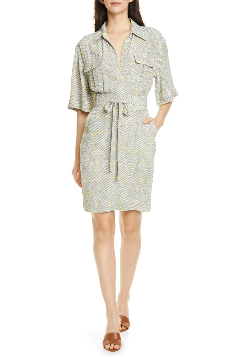 EQUIPMENT Axelle Shirtdress, Main, color, SILVER LINING MULTI