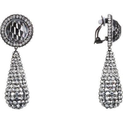 Nina Pave Teardrop Clip-On Earrings