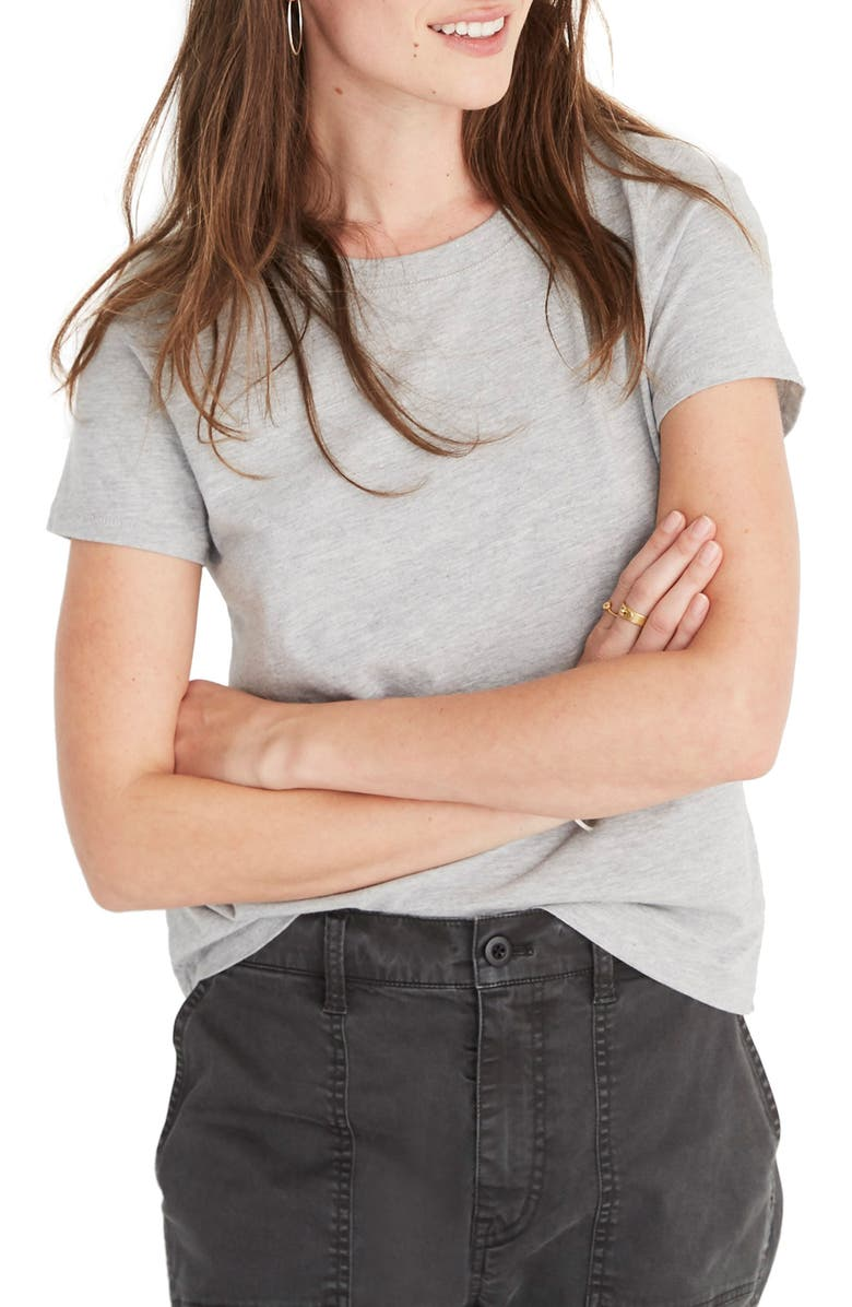 MADEWELL Northside Vintage Tee, Main, color, HEATHER GREY