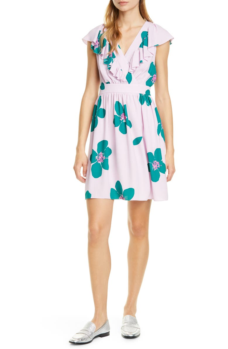KATE SPADE NEW YORK grand flora a-line dress, Main, color, MIRAGE PINK