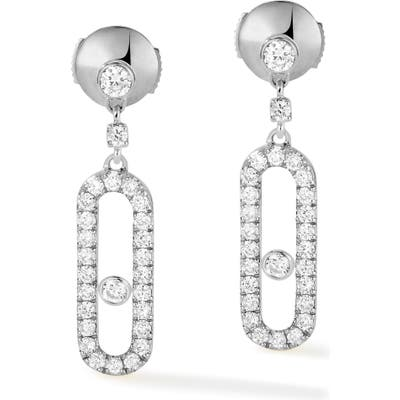 Messika Move Uno Pave Diamond Drop Earrings