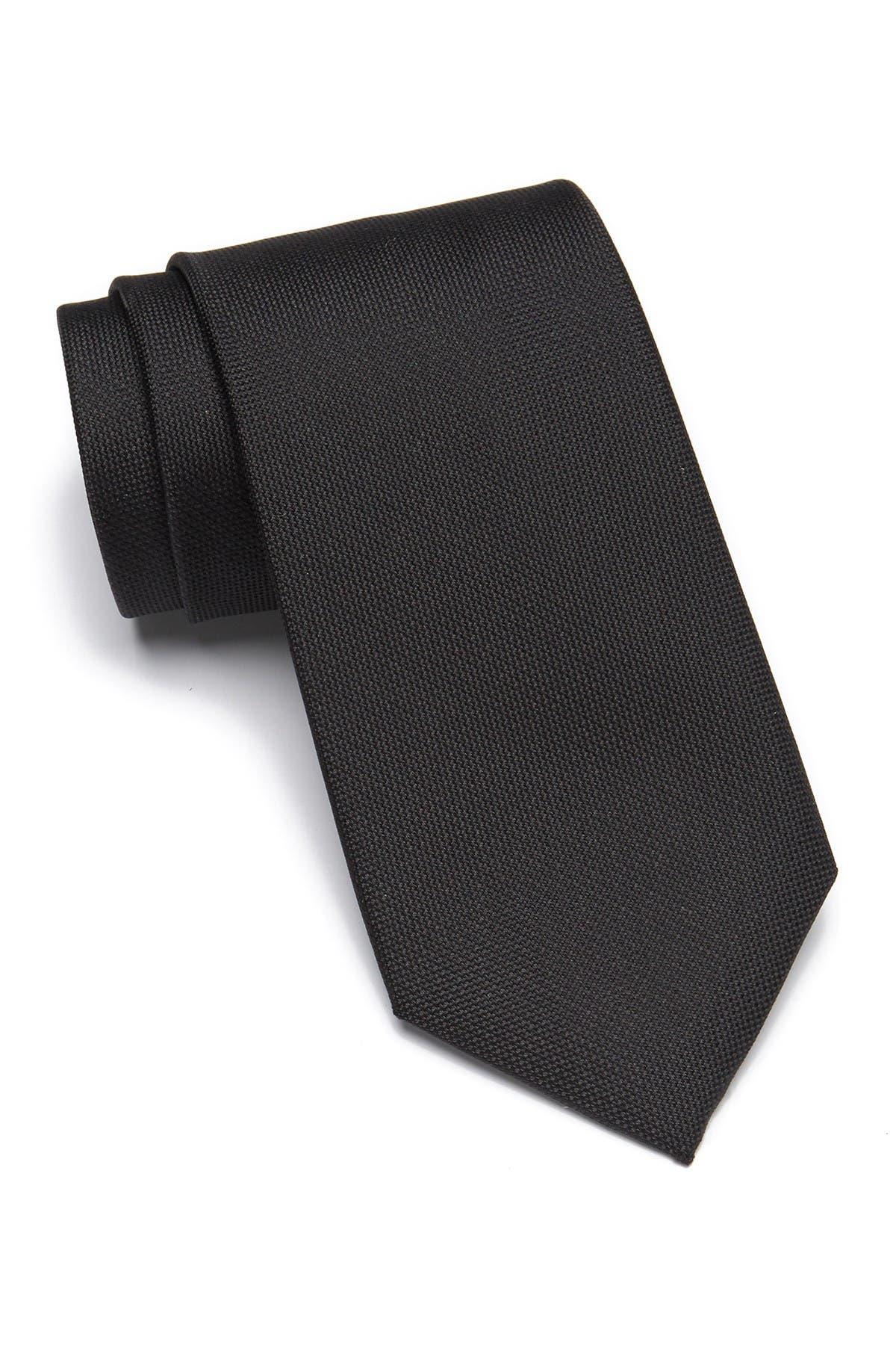 Image of Calvin Klein Silver Spun Solid Silk Tie