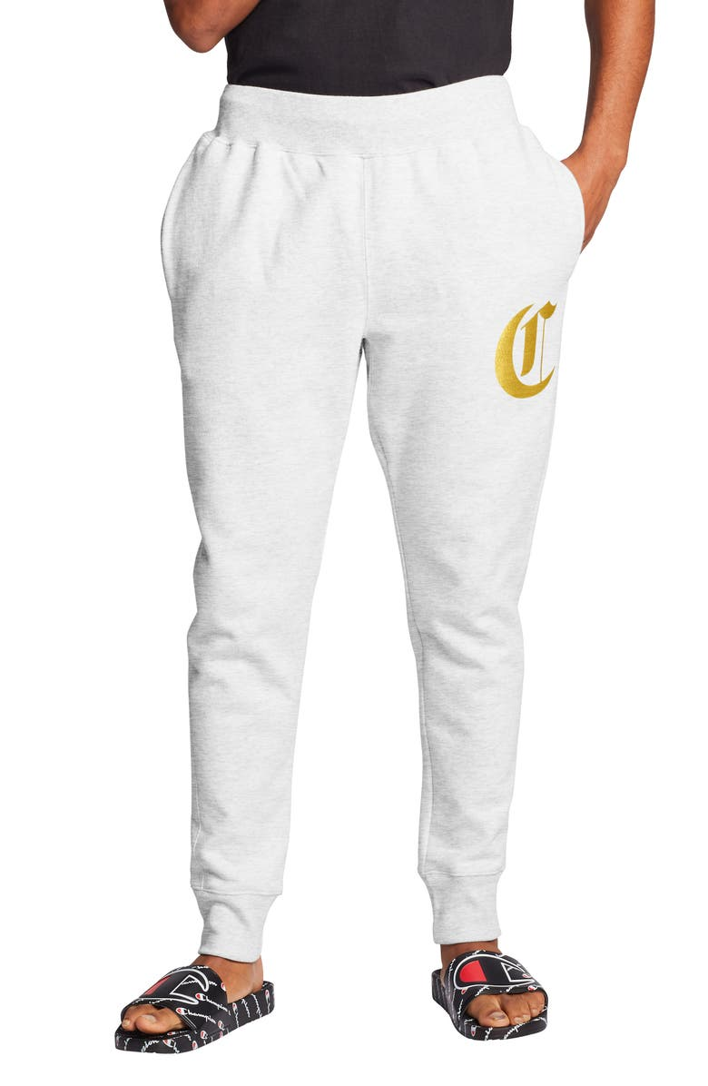 CHAMPION Old English Embroidered Logo Sweatpants, Main, color, SILVER GREY