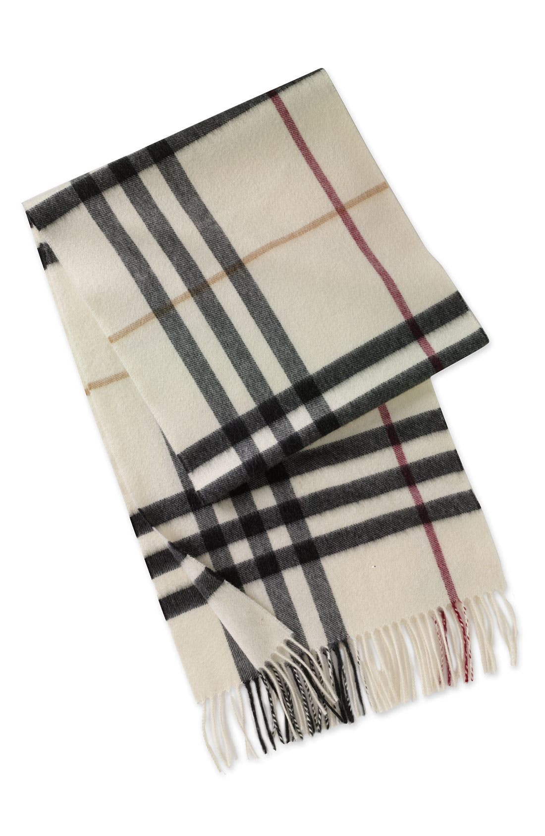 ,                             Heritage Check Cashmere Scarf,                             Main thumbnail 19, color,                             100