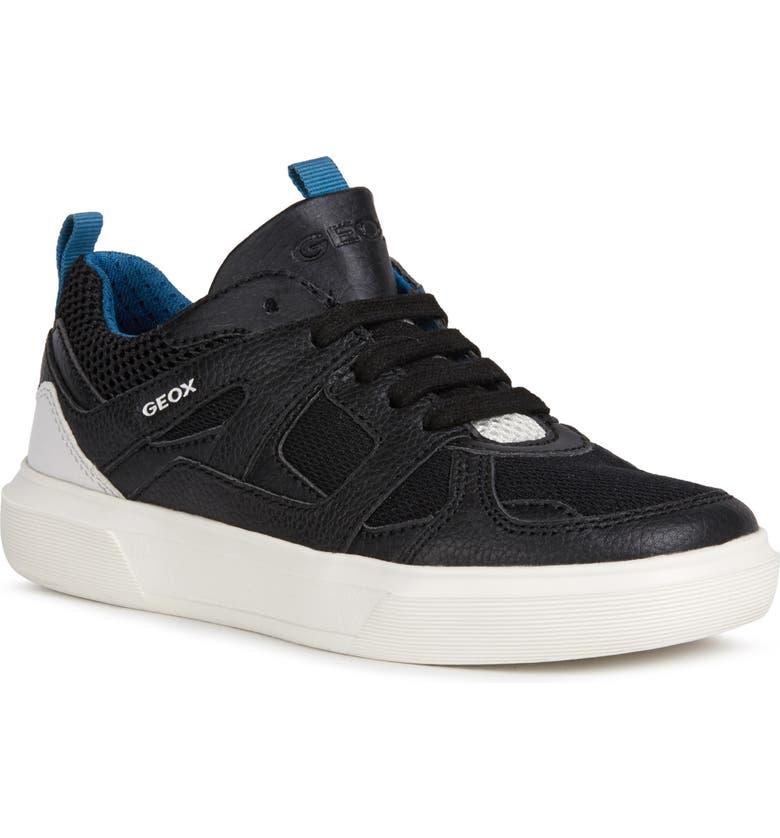 GEOX Nettuno 2 High Top Sneaker, Main, color, BLACK/ PETROL