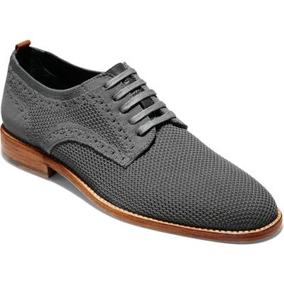 Cole Haan Feathercraft Grand Stitchlite Plain Toe Derby- Grey
