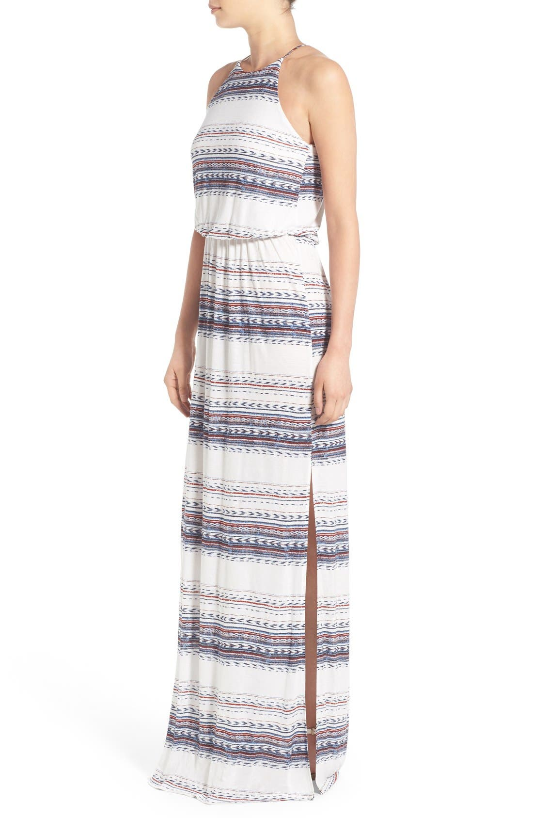 ,                             High Neck Maxi Dress,                             Alternate thumbnail 146, color,                             901