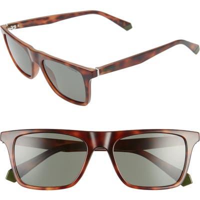 Polaroid 5m Polarized Flat Top Sunglasses - Greenhava/ Grey Lens