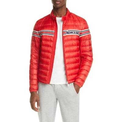 Moncler Renald Puffer Down Jacket, Red