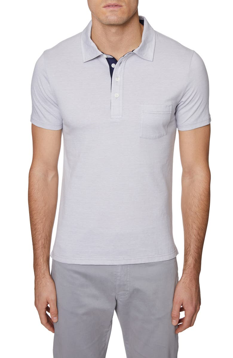 HICKEY FREEMAN Regular Fit Pinstripe Polo, Main, color, 022