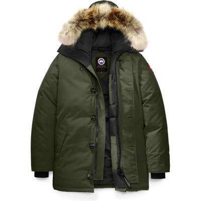 Canada Goose Chateau Fusion Fit Parka With Genuine Coyote Fur Trim, Green