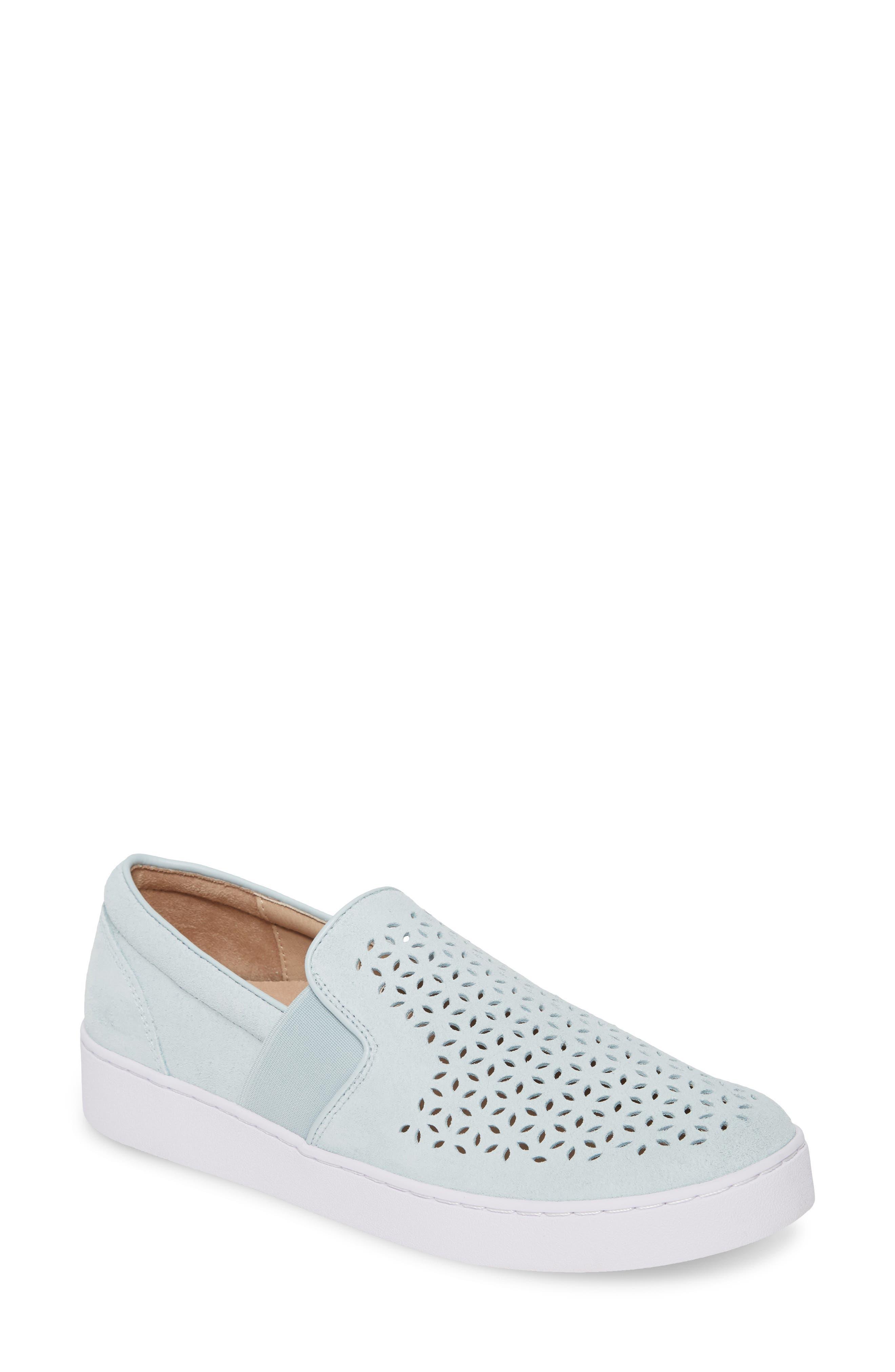 Vionic Kani Perforated Slip-On Sneaker- Blue