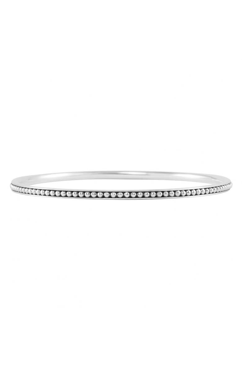 LAGOS Caviar<sup>™</sup> Bangle, Main, color, STERLING SILVER