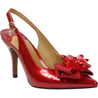 J. Renee Denyell Slingback Pump B - Red