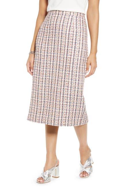 Image of Halogen Tweed Pencil Skirt