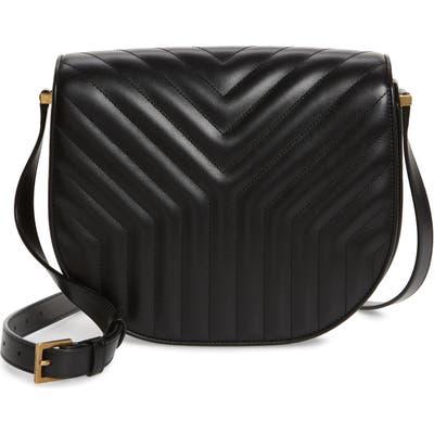 Saint Laurent Joan Quilted Leather Shoulder Bag - Black