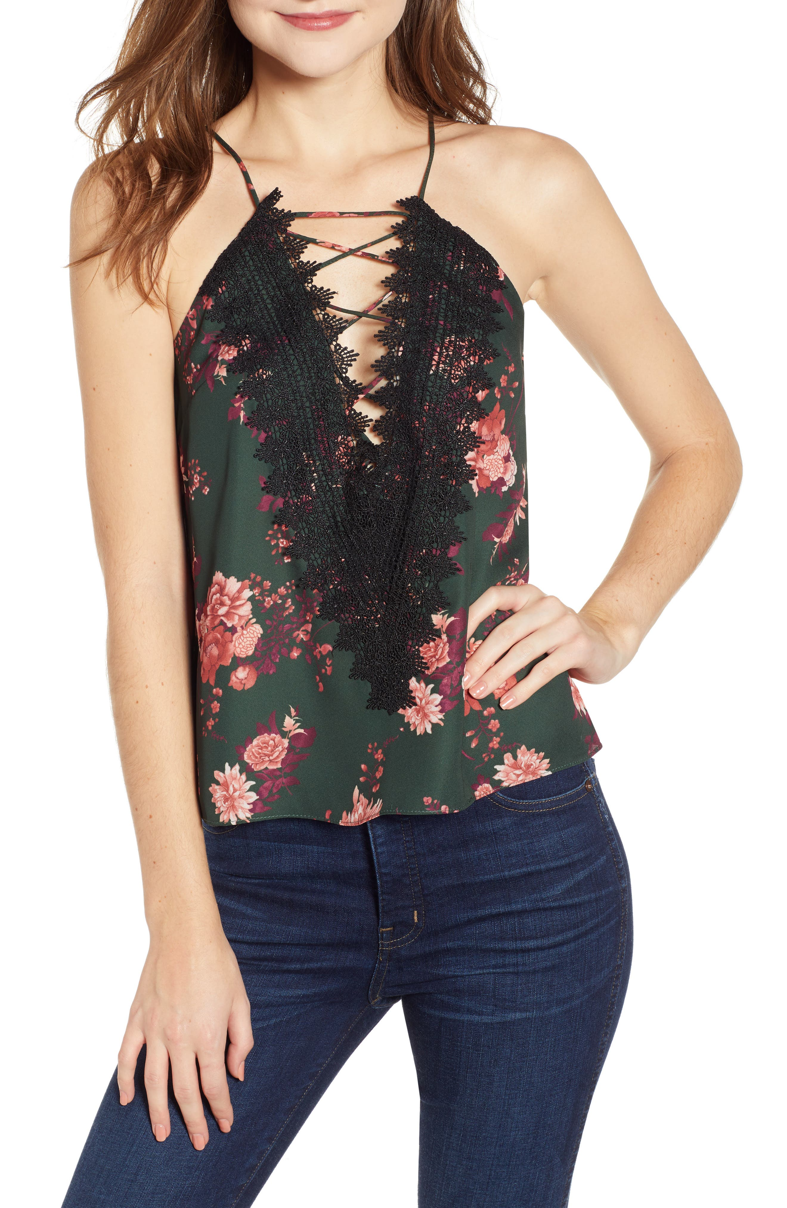,                             Posie Strappy Camisole,                             Main thumbnail 152, color,                             300