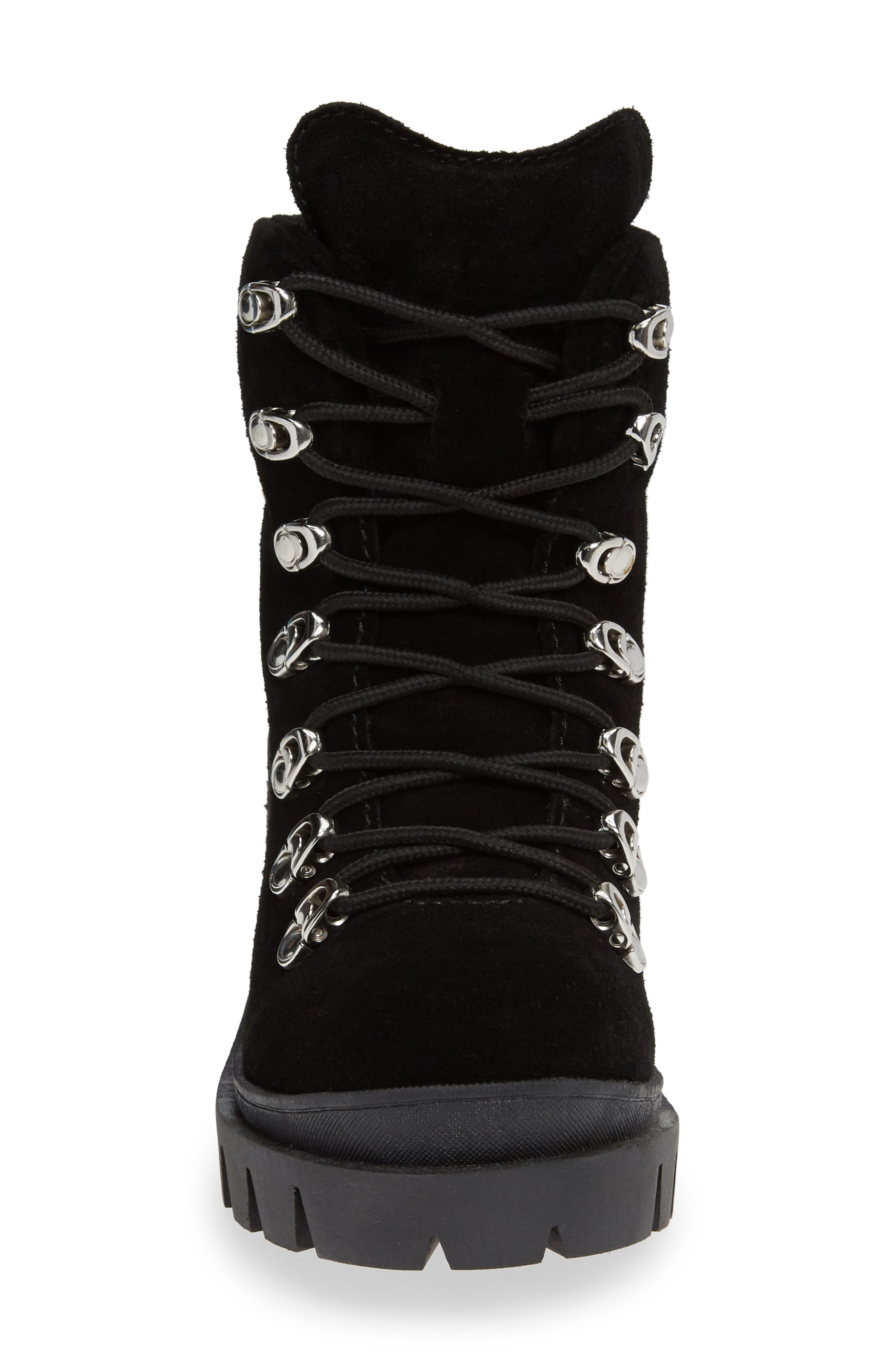 ,                             Golan Boot,                             Alternate thumbnail 4, color,                             BLACK OILED SUEDE