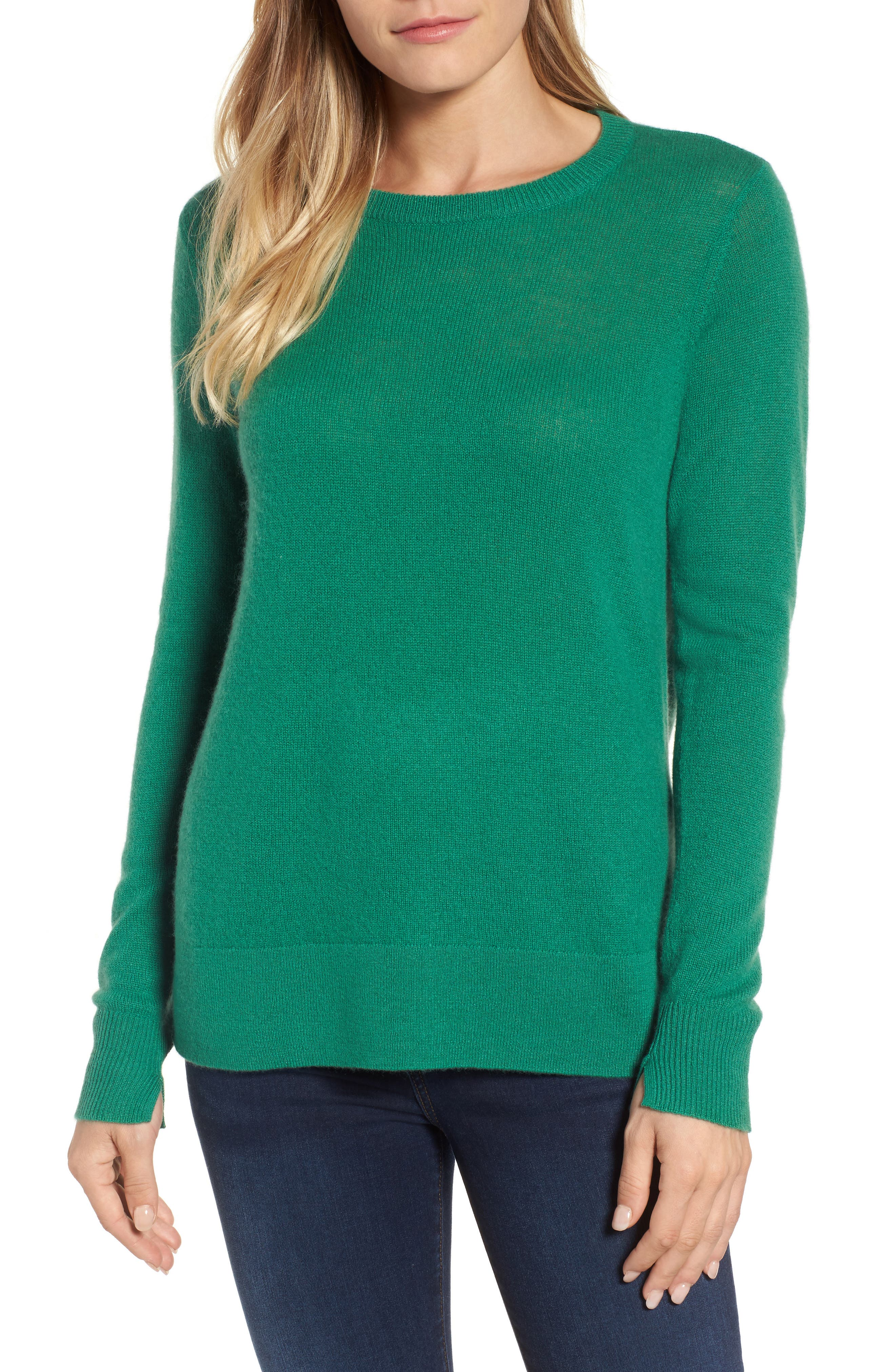 ,                             Crewneck Cashmere Sweater,                             Main thumbnail 72, color,                             300